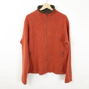Mountain Hardwear Orange Zip Wool Blend Jacket XL